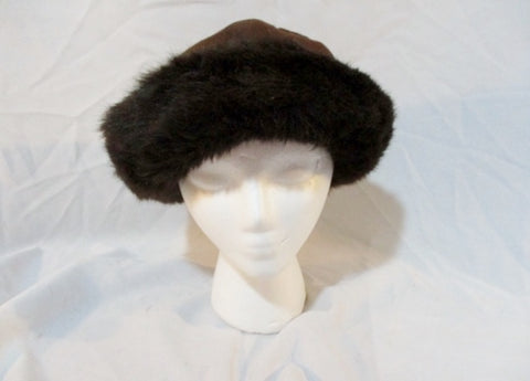 NEW NWT BETMAR NEW YORK FUR hat cap boho hipster CHOCOLATE BROWN