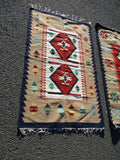 NEW SET 2 EGYPTIAN Handmade Wool Rug Carpet Mat Area KILIM Ethnic Native