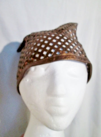 Unusual FREDERIC FEKKAI Leather Headband Bandana Kerchief METALLIC COSPLAY