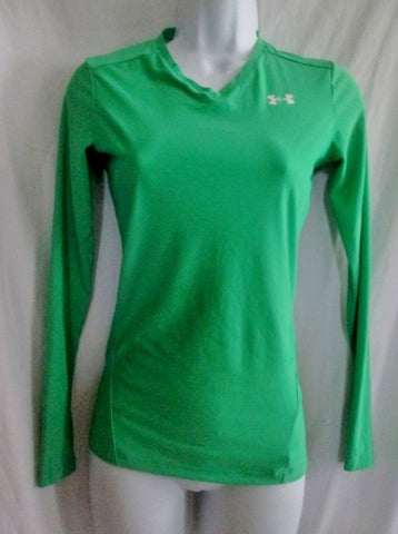 Womens UNDER ARMOUR HEATGEAR Fitness Workout Athletic Shirt Top GREEN M