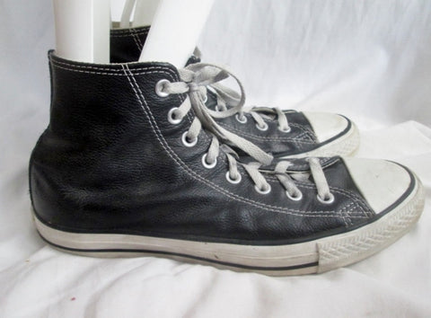 Womens CONVERSE ALL STAR Hi-Top Sneaker Trainer Athletic Shoe Boot BLACK 10.5 Mens