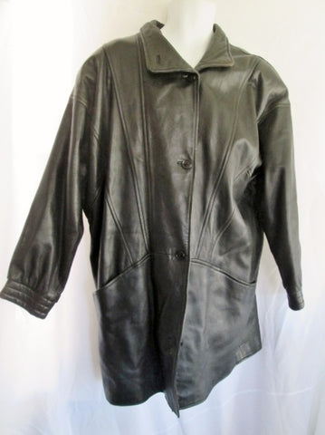 WOMENS DEERSKIN LEATHER flight bomber Moto Riding jacket coat BLACK 12 Biker