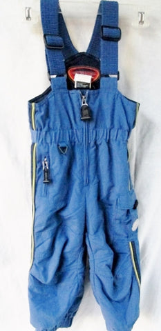 EUC Preschool Boys Girls OBERMEYER Overalls Ski Snowsuit Snow Pants BLUE 3 OBX