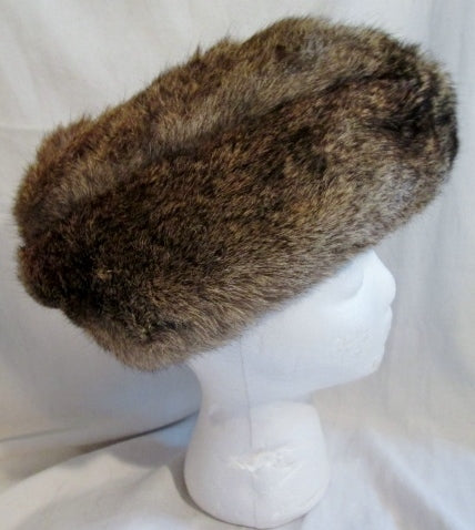 Vtg NORTH KING FRANCE Rabbit Fur Hat Cap Trooper Cossack Trapper M Mens Womens