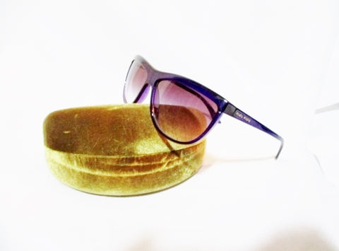 MIU MIU SUNGLASSES PURPLE SMU05L w GOLD HARD CASE