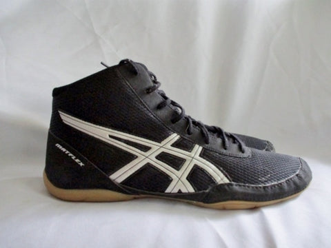 Asics Matflex J504N Hi- Top Wrestling Shoe Sneaker Trainer Black 13 Mens