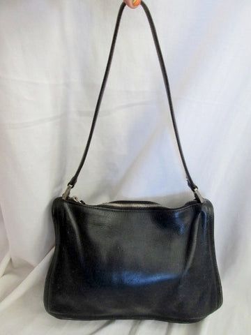 COACH 6145 Leather Handbag Satchel HOBO Shoulder Bag BLACK Purse Pyramid