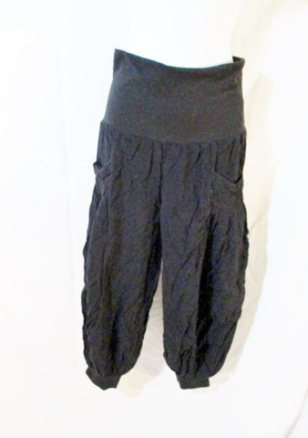 Womens TAXI BALLOON Hip Hop Dance Leggings PANTS BLACK S Gypsy Pockets