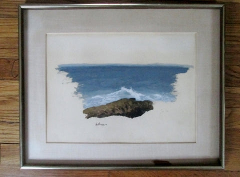 Signed Original Framed PAINTING ART Seascape Ocean Wave Nautical Maritime Nature