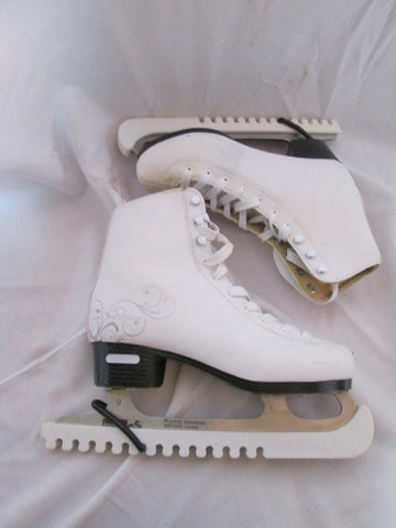 Womens SOLSTICE BLADERUNNER Figure Ice Skates White Leather 6 Competition Ladies