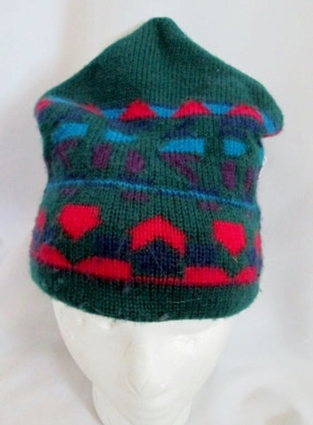 Vintage IGLOOS Wool Knit Ski Hat Cap Snowboard Beanie OS GREEN BLUE RED PURPLE
