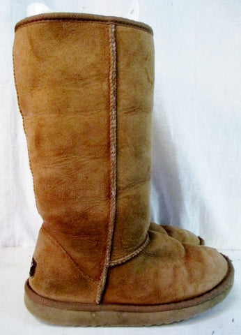Womens UGG AUSTRALIA 5815 CLASSIC TALL Suede BOOT Shoe CHESTNUT BROWN 7 Winter