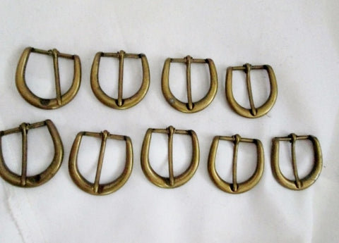 "Lot Vintage 1.5"" SOLID BRASS BELT BUCKLE DIY Craft Maker Artist Arts D-Ring"