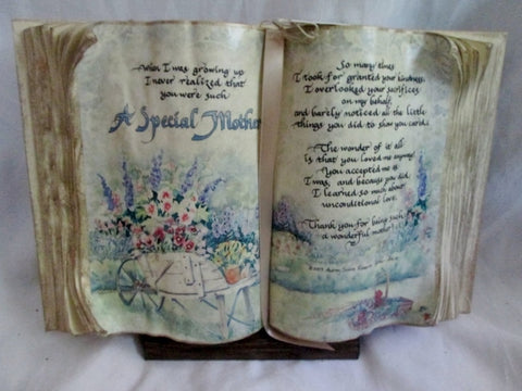 "NEW AUDREY JEANNE'S EXPRESSIONS ""SPECIAL MOTHER"" Mom Book Plaque"