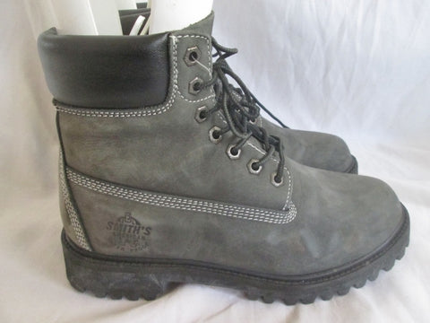 Mens SMITH'S AMERICAN Waterproof Hiking Trekking Field Boots 7.5 GRAY CHARCOAL
