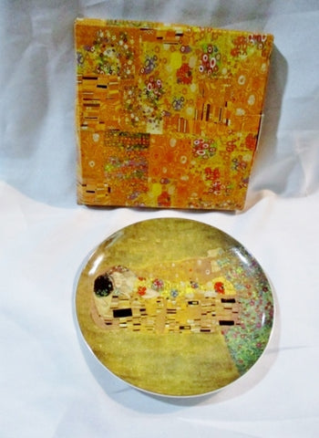 "NEW Gustav Klimt THE KISS Ceramic plate 8.25"" GS VIENNA AUSTRIA"