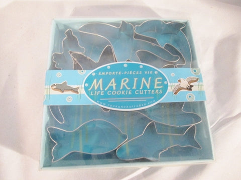 NEW Fox Run 3655 Marine Life Cookie Cutter Set Stainless Steel 7-Piece Mold Baking Pastry Chef