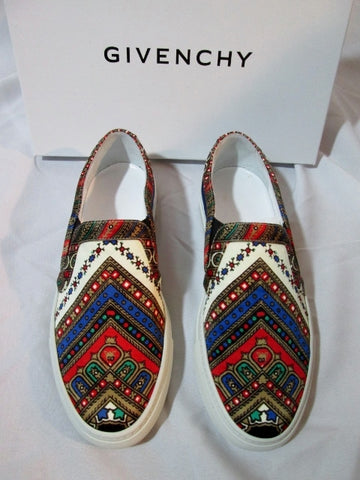 NEW Womens GIVENCHY TRAINERS FOULARD SILK Sneaker Shoe 36 / 6 Slip On NIB