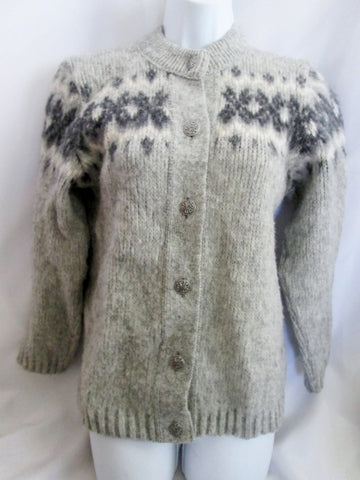A.S Evebofoss Norwegian Fjord fashion Sweater Cardigan Wool Scandinavian S Holiday 36 GRAY