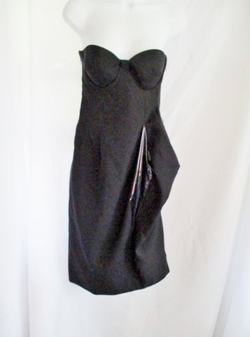 NWT New JIL SANDER MIRTILLO Sleeveless Dress 36 4 BLACK Party Formal Gown