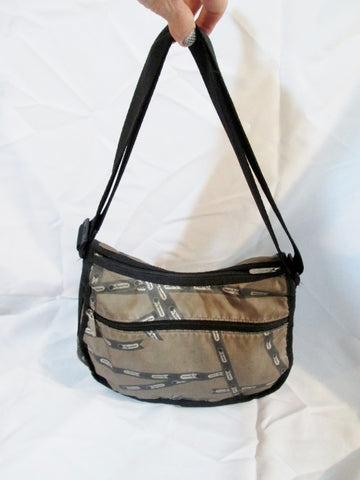 LESPORTSAC Nylon shoulder bag purse hobo crossbody BROWN Signature Le Sport Sac