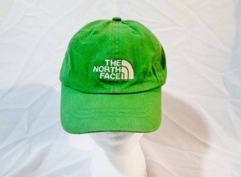 THE NORTH FACE EMBROIDERED LOGO baseball cap hat GREEN OS Adjustable