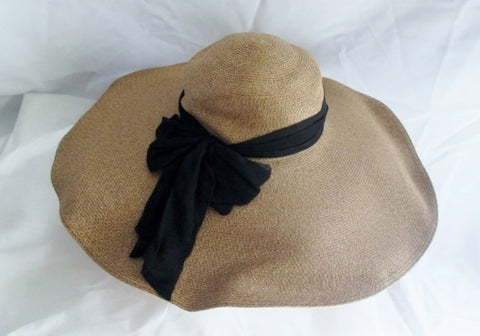 New Womens EUGENIA KIM Woven TOYO PAPER COTTON Floppy Sun Hat USA
