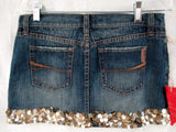 NEW WOMENS ABERCROMBIE EZRA FITCH Shell MINI Denim Jean Skirt XS 27 $148