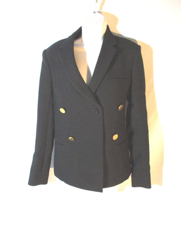 New NWT CELINE DOUBLE BREAST WOOL Jacket Coat Blazer 38 BLACK Womens