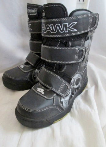 Boys Kids TONY HAWK Insulated Waterproof Rain Snow Boots Winter SKULL 5 BLACK