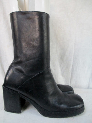 Womens ENZO ANGIOLINI LODES Leather Ankle BOOTS Shoe BLACK 6 Booties