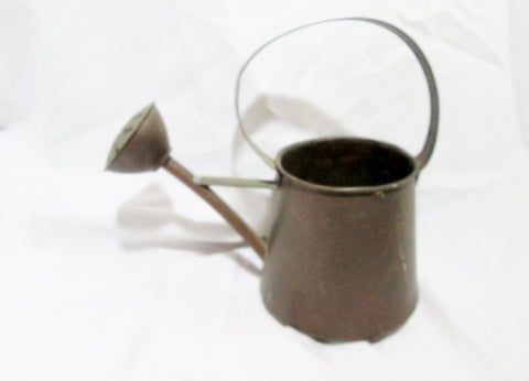 Handmade Stud Metal Copper Watering Can Garden Rustic Primitive Ethnic