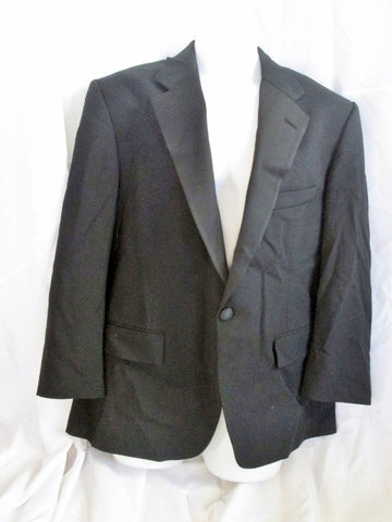 Mens CHAPS RALPH LAUREN Tuxedo Sport Jacket Suit Blazer 43S BLACK Formal Wedding