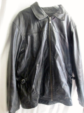 EUC MENS M. JULIAN WILSONS Leather moto jacket coat parka BLACK M riding