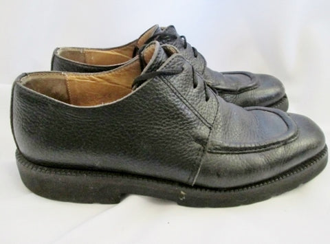 Mens BARNEY'S NEW YORK ITALY Leather Loafer Saddle Oxford Shoes 10 BLACK DERBY