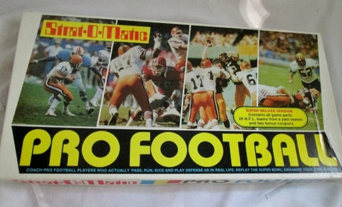 NIB NEW Vintage Stock 1982 STRAT-O-MATIC PRO FOOTBALL Super Deluxe Game