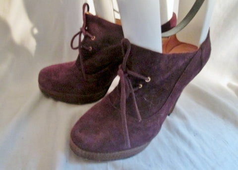 NEW LUIZA BARCELOS Suede Steampunk High Heel Shoe Stiletto PURPLE 9 FETISH