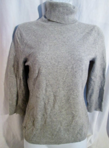 Womens EXPRESS DESIGN STUDIO Cashmere Turtleneck Sweater Pullover GRAY M Top