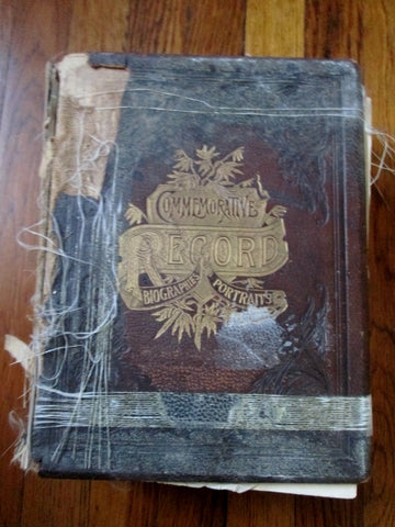 Antique 1899 Commemorative Biographical Record Fairfield County Connecticut Leather Book BROWN