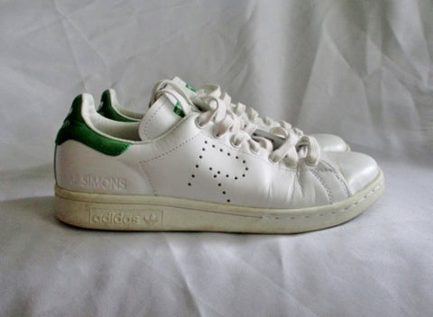 ADIDAS STAN SMITH RAF SIMONS Sneaker Athletic Shoe WHITE 5.5 Trainer