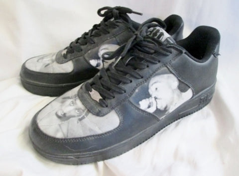 Mens Tupac Shakur 2PAC Makaveli Branded SHOES RAP HIP HOP Sneaker 12 Trainer Lowrise Top