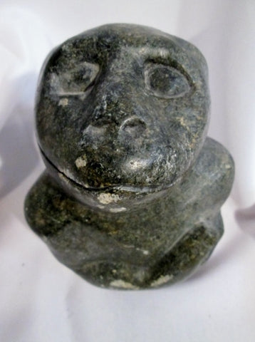 Handmade Signed BTAKA MONKEY APE Figure Hand Statue Sculpture Inuit Art Primitive Eskimo 6.5""