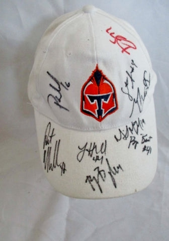 Signed AUTOGRAPH NEW YORK TITANS PRO LACROSS baseball cap hat WHITE