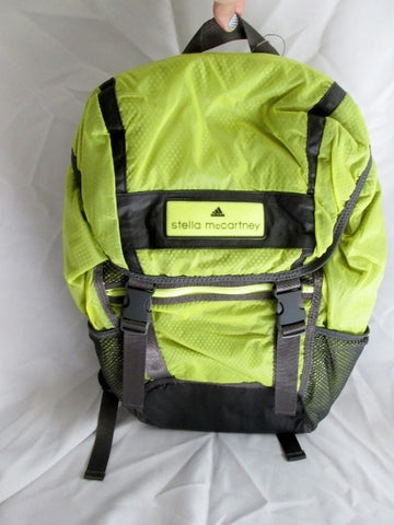 NEW NWT STELLA MCCARTNEY Back Pack Rucksack RUN YELLOW BACKPACK GREEN
