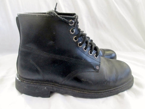 Mens STK EAGLE 1996 LEATHER Ankle Combat BOOT Shoe BLACK 9 Military Style
