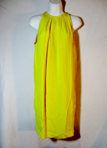NWT New CELINE CADY Sleeveless Short SILK Pleated Dress 38 / 6 YELLOW Womens