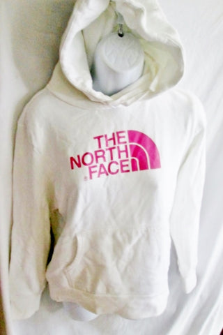 Womens THE NORTH FACE Signature Hoodie SWEATSHIRT Jacket M WHITE PINK