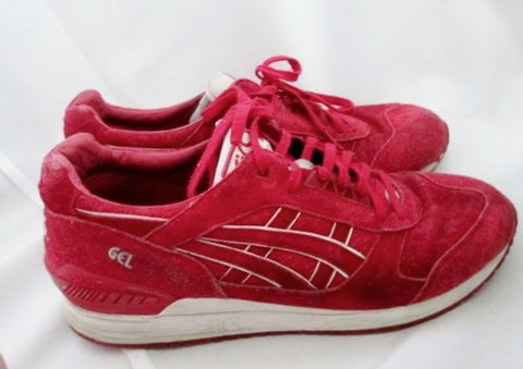 MENS ASICS Suede Sneaker Trainer RED 13 Athletic Sports Shoe Fitness Streetwear H6U3L