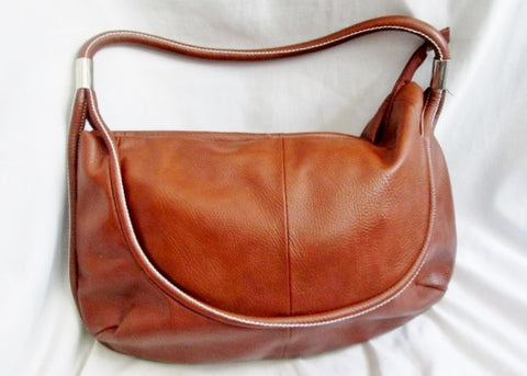 NEW EMME TRENTA vegan faux leather hobo satchel shoulder bag sling BROWN L boho