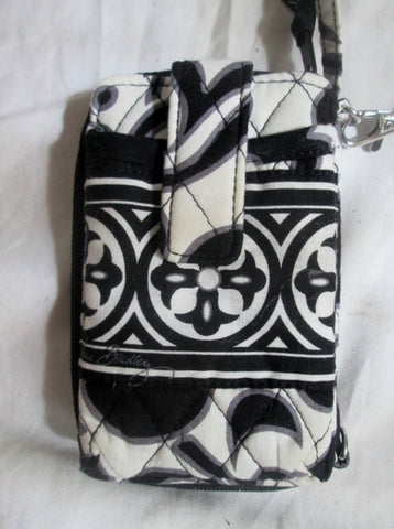 VERA BRADLEY Vegan Quilted Wallet Organizer Mini Case BLACK WHITE NIGHT & DAY S